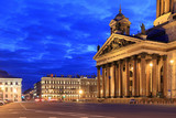 The facade of St. Isaac's Cathedral in the evening in Saint-Petersburg - 192329598