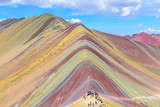 Fototapeta Tęcza - Rainbow Mountain, near Cusco, Peru © Noradoa