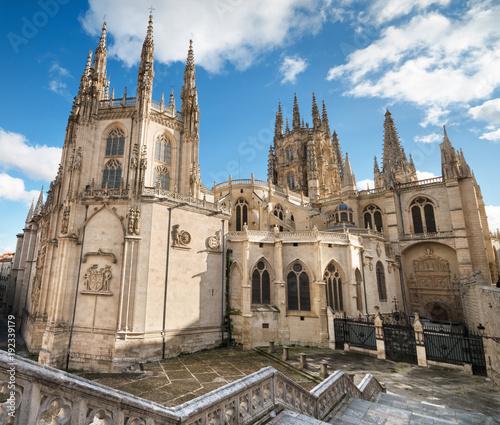 Burgos Cathedral. Famous Spanish Landmark.