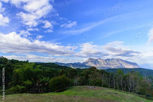 Fotobehang Thailand Mountain view blue sky with cloud landscape ,Chiangmai Thailand