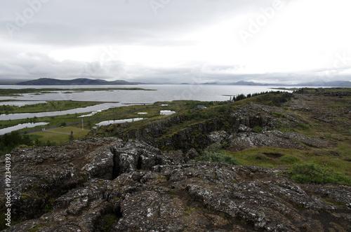 Fotobehang Wit Iceland
