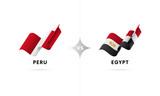 Peru versus Egypt. Football. Vector illustration. - 192340776