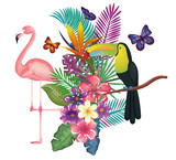 tropical and exotic garden with flemish vector illustration design - 192344516