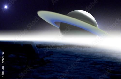 Saturno desde mi banco