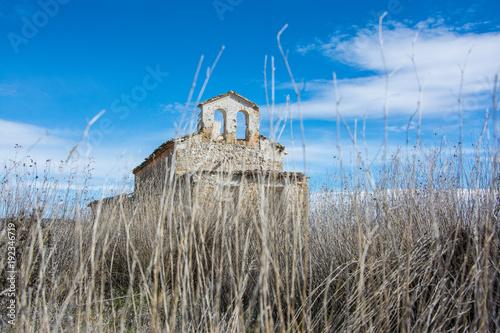Fotobehang Grijs iglesia abandonada