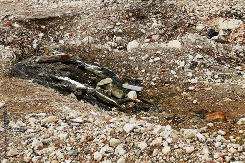 Deurstickers Stenen The demolition remnant