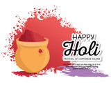 happy holi festival colors vector illustration design - 192351112
