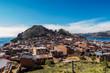 Quadro View of Copacabana and the monte del Calvario in lake Titicaca