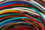 insulated wires with different colors closeup - 192364164