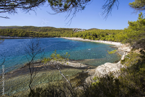 Srebrna (Silver) beach on Vis island, Croatia
