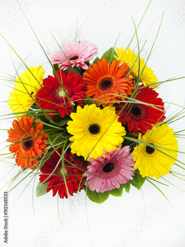 Fotobehang Gerbera Bouquet of Flowers