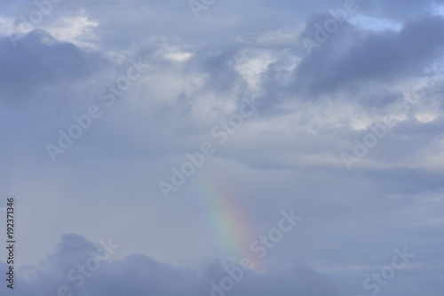 A Rainbow Among The Clouds