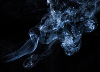 abstract smoke texture on black background