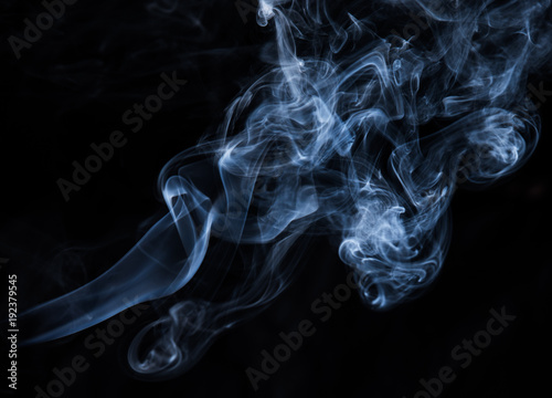 abstract smoke texture on black background - 192379545