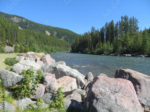 Fotobehang Bergrivier Maligne River 4, Jasper, Alberta
