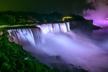 Niagara Falls illuminated