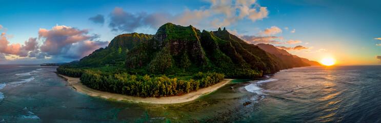 Aerial View of Hawaii's Na Pali Coast, Kauai © Marcel