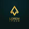 gold triangle shape logo - 192401540