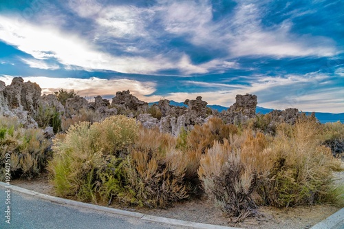 Foto Murales Mono lake cloudy day