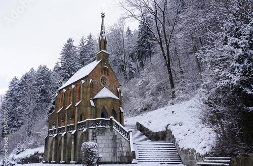 Foto op Canvas Lavendel Kiefersfelden Bayern, nahe Kufstein Tirol, König Otto Kapelle