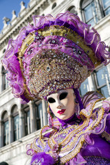 Woman in mask at The Carnival of Venice 2018