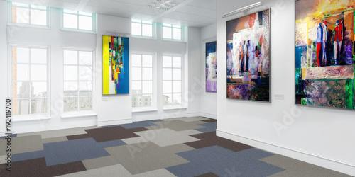Kunstausstellung (panoramisch)
