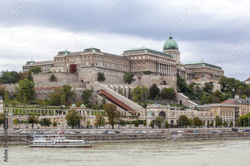 Fotobehang Boedapest Burgberg in Budapest, Ungarn