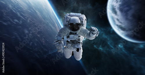 Papiers peints Nasa Astronaut floating in space 3D rendering elements of this image furnished by NASA