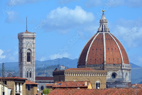 Aluminium Florence Cathedral of Florence with Campanile - Italy.