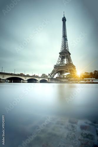 Foto op Canvas Eiffeltoren Eiffel tower and Seine river in Paris, France