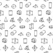 Vector pattern of Geometric Shape Hand Drawn Sketch on white background. - 192430504