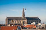 Cathedral of St. Bavo in Haarlem city - 192433721