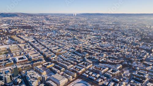 Staande foto Parijs Oslo from above