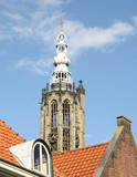 Onze Lieve Vrouwetower in the center of Amersfoort. The Netherlands - 192437993
