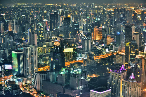 Foto op Plexiglas Bangkok View of the city of Bangkok, Thailand after sunset