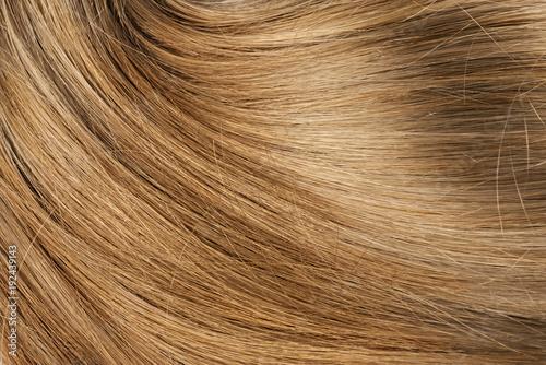 Long blond human shiny hair