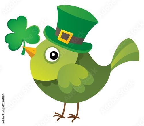 Fotobehang Voor kinderen St Patricks Day theme with bird image 1