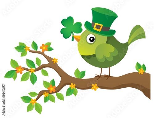 Aluminium Voor kinderen St Patricks Day theme with bird image 2
