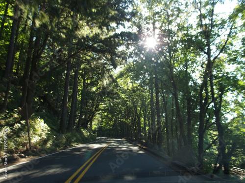 Fotobehang Khaki Driving through the USA in the car