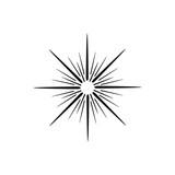 Sun Ray or Star Burst Vector - 192458571