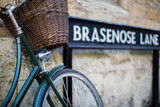 Bicycle Next To Brasenose Lane Sign Outside Oxford University College Buildings - 192462367