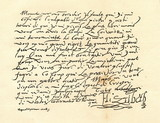 Letter from the Elizabeth I of England to the Henry IV of France (from Spamers Illustrierte Weltgeschichte, 1894, 5[1], 696/697) - 192463712