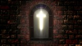 1141 Church Stain Glass Cross, 4K - 192466339