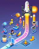 Business Start Isometric Composition - 192468135