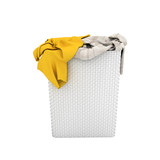 Pile of dirty clothes in a washing basket without shadow isolated on white background 3d render - 192470386