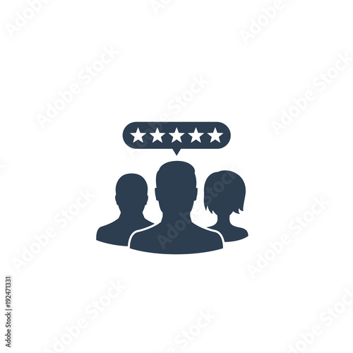Customer review vector icon