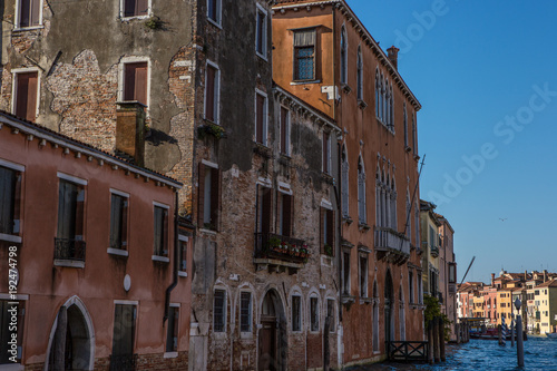 Fototapeta Buildings and canal in Venice, Italy