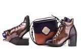 Boots and a handbag of gold color - 192475554