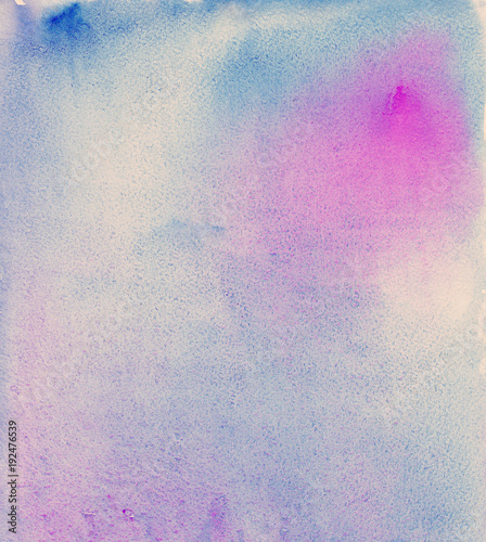 Watercolor abstract background splash. Blue and purple flow