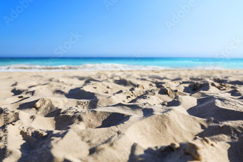 Fotobehang Tropical strand a beautiful beach on a beautiful sunny day